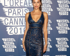 Ирина Шейк поразила всех своим модным нарядом на рауте L'Oreal Paris Blue Obsession party